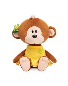 Мягкая игрушка Обезьянка Отиша в желтом платье 15 см Budi basa