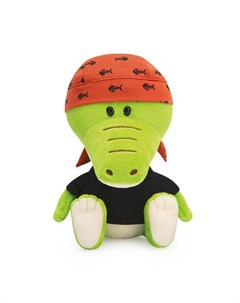Мягкая игрушка Крокодильчик Кики в черной футболке и бандане 15 см Budi basa