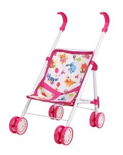 Прогулочная коляска Фантазия для куклы 32х23см малиновая Mary poppins