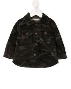 Джинсовая рубашка с камуфляжным принтом Zhoe & tobiah