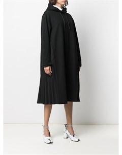 Платье худи с кулиской и плиссировкой Juun.j