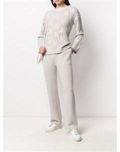 Кашемировые брюки прямого кроя Sminfinity