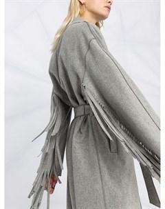 Пальто с бахромой и завязками Luisa cerano
