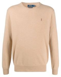 Кашемировый пуловер с вышитым логотипом Polo ralph lauren
