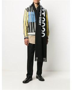 Шарф вязки интарсия с логотипом Comme des garçons shirt