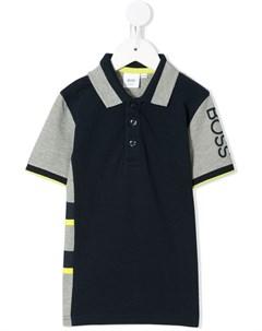 Рубашка поло в стиле колор блок с логотипом Boss kidswear