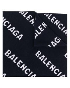 Шарф вязки интарсия с логотипом Balenciaga