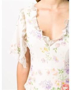 Платье Elsa с цветочным принтом и V образным вырезом Needle & thread