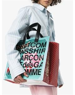Сумка тоут с логотипом Comme des garçons shirt