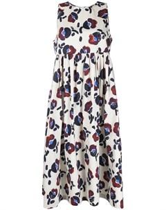 Платье миди ампирного силуэта с цветочным принтом Odeeh