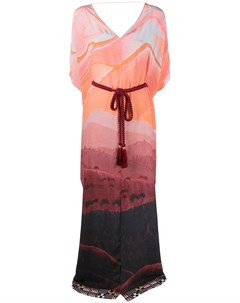 Платье кафтан с принтом Matthew williamson