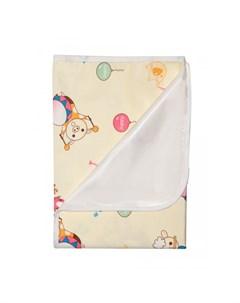 Наматрасник непромокаемый теплый из ультрасофта Цирк оркестр 120х60 см Multi-diapers