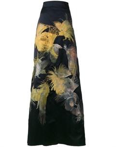 Длинная юбка Dore с вышивкой в виде птиц Alice archer