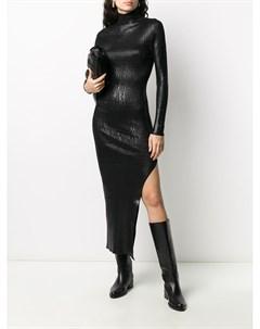Трикотажное платье миди с высоким воротником Andrea ya'aqov