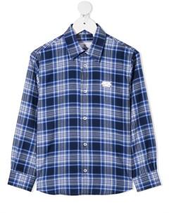 Клетчатая рубашка с длинными рукавами Philipp plein junior