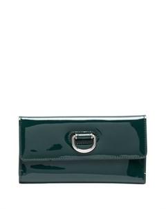 Лакированный кошелек с откидным клапаном Burberry