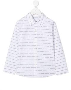 Рубашка с длинными рукавами и логотипом Calvin klein kids