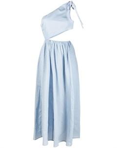 Платье миди на одно плечо с вырезом Marysia