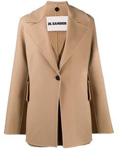 Короткое двухслойное пальто Jil sander