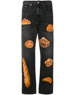 Прямые джинсы с принтом Doublet