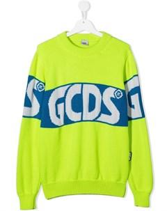 Свитер с жаккардовым логотипом Gcds kids