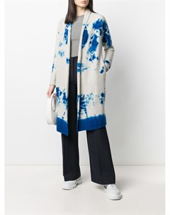 Кашемировое пальто кардиган с принтом тай дай Suzusan