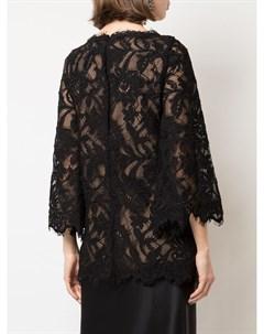 Кружевная блузка из цветочной вышивкой Marchesa