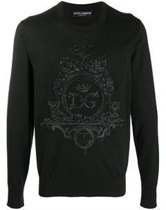 Пуловер с вышитым логотипом Dolce&gabbana