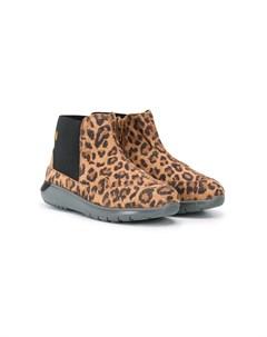 Ботинки с леопардовым принтом и блестками Hogan kids