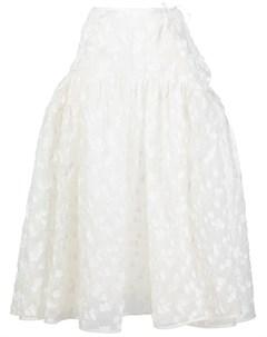 Расклешенная юбка миди с вышивкой Cecilie bahnsen