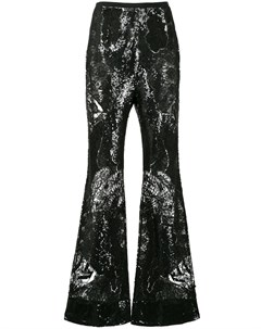 Кружевные расклешенные брюки с пайетками Zuhair murad