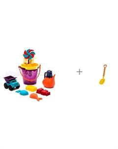 B Summer Игрушки для песка в сумке и детская лопата 70 см Gowi Battat