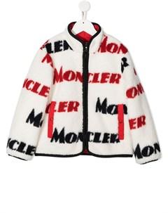 Куртка из шерпы с логотипом Moncler enfant
