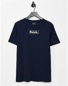 Темно синяя футболка с логотипом Bench