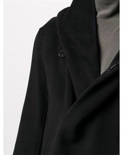 Двубортное пальто с капюшоном Attachment