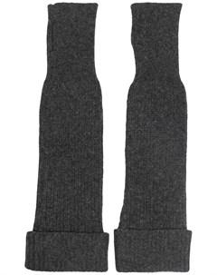 Длинные перчатки митенки Ganni
