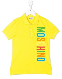 Рубашка поло с логотипом Moschino kids