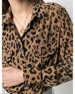 Рубашка с длинными рукавами и леопардовым принтом Blazé milano