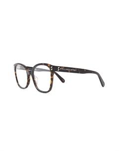 Очки в оправе черепаховой расцветки Stella mccartney eyewear
