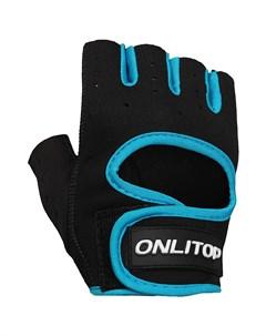Перчатки спортивные размер м цвет чёрный синий Onlitop