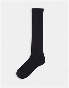 Черные ажурные гольфы Asos design