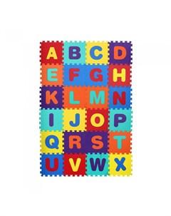 Игровой коврик пазл Английский алфавит 26 деталей Компания друзей