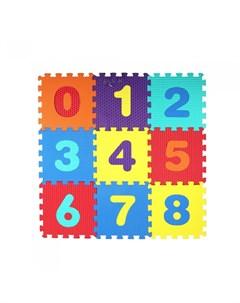 Игровой коврик пазл Цифры 10 деталей Компания друзей