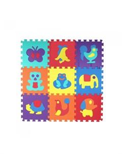 Игровой коврик пазл Животный мир 10 деталей Компания друзей