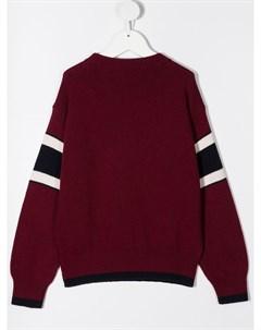 Вязаный свитер с нашивкой логотипом Dsquared2 kids