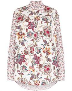 Рубашка Regenerated с цветочным принтом Marine serre
