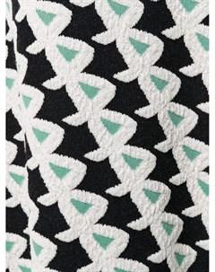 Трикотажная юбка с геометричным принтом Christian wijnants
