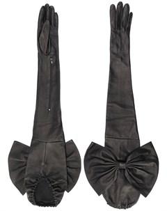 Длинные перчатки с бантами Manokhi