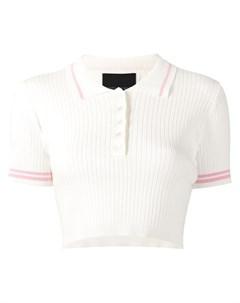 Укороченная рубашка поло в рубчик Cynthia rowley
