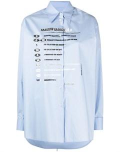 Рубашка с длинными рукавами с принтом Mm6 maison margiela